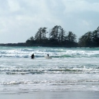 Playing in the Surf in Tofino